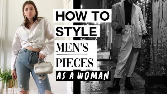how to style menswear pieces as a woman, menswear inspired fashion
