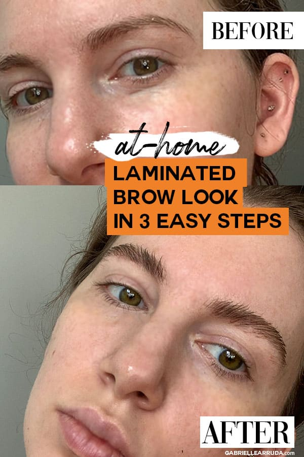 how to get feathered brows before and after, easy 3 step tutorial for perfect natural brows, eyebrow trends 2020