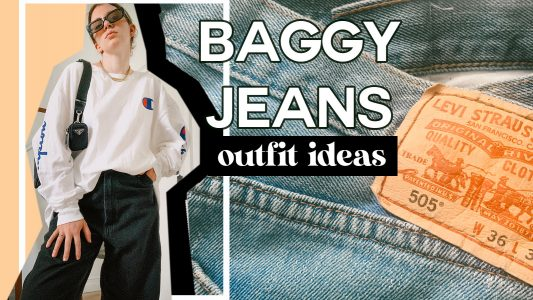 baggy jeans outfit ideas women