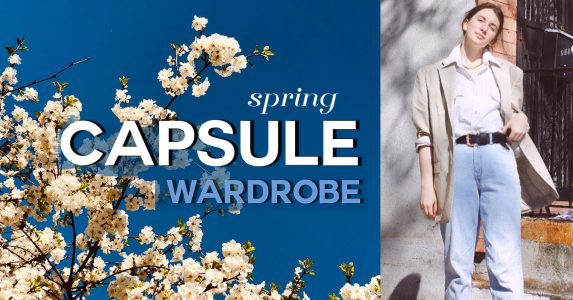 spring capsule wardrobe 2021, style blogger gabrielle arruda wearing denim with mens white blouse and linen blazer