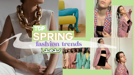spring fashion trends 2021, elevated crochet, colorful tights, gingham pints, pastel tones and more